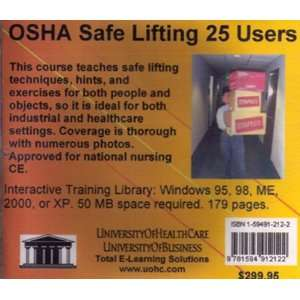 OSHA Safe Lifting, 25 Users (9781594912122): Daniel Farb