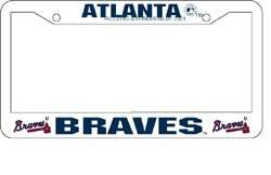Atlanta Braves License Plate Frame MLB Baseball Car Auto
