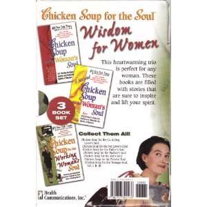 Chicken Soup for e Soul Wisdom for Women 3 Book Set Chicken Soup