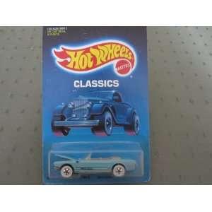 65 Mustang Convertible 1987 Hot Wheels Classics #1542 Light Blue Tan