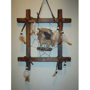 : INDIAN / WOLF DREAMCATCHER TIC TAC TOE WALL DECOR: Everything Else