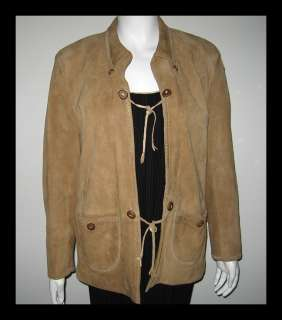 ALAN AUGUSTINA Carmel Brown WESTERN SUEDE LEATHER JACKET COAT M
