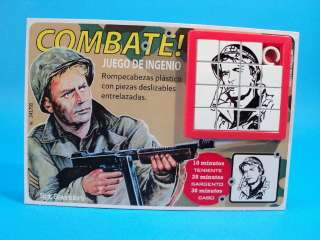 COMBAT! TV SERIES * Sgt SAUNDERS VIC MORROW * SLIDE PUZZLE GAME CARDED