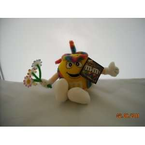 M&Ms Yellow Hippie Small Plush Toy New with Tag 5 1/2
