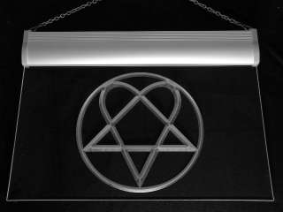 c248 b Him Heartagram Logo Band Neon Light Sign