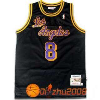 KOBE BRYANT Lakers Retro Black #8 Swingman Jersey RARE