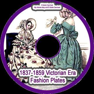 1837 1859 Victorian War Era 83 Fashion Plates on Cd NEW
