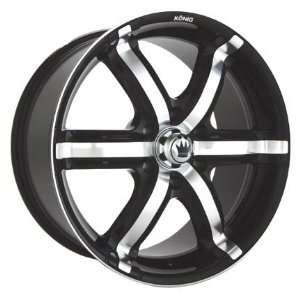 20x8.5 Konig Coastal (Gloss Black w/ Machined Inlay) Wheels/Rims 6x135