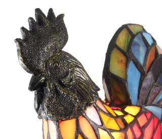 Stained Glass Rooster Accent Lamp Chicken