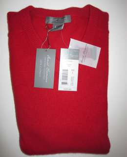Large Cashmere Red Sweater Daniel Cremieux NWT $225