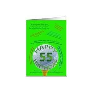 55th birthday golf jokes Card: Toys & Games