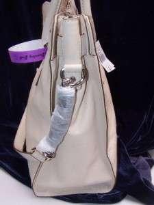 Michael Kors VANILLA Leather Hamilton Large N/S Handbag Tote Retail $