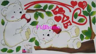 BABY BEARS TREE WALL ART NURSERY DECOR DECAL STICKERS