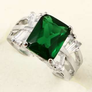 RADIANT PRINCESS GREEN EMERALD *A068* PARTY RING