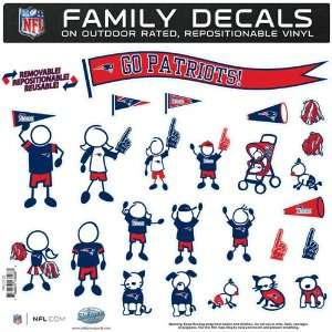 BSS   New England Patriots NFL Family Car Decal Set (Large