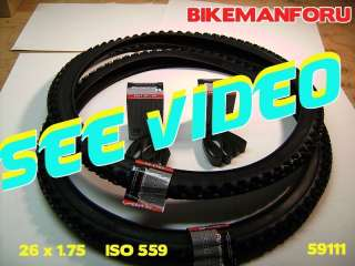 Bicycle 26x1.75 Street Bike 2 Tire 2 Tube 2 Rimstrip