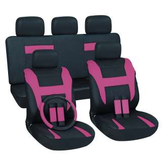 Pink 16 piece Car Seat Cover Set