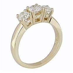 Gold 1ct TDW Round Diamond 3 stone Ring (H I, I1 I2)