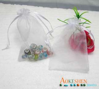 Wholesale Sheer White Bulk Wedding favor bags jewelry organza gift