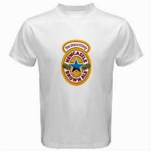 Newcastle Brown Ale Beer Logo New White T Shirt Size  XL