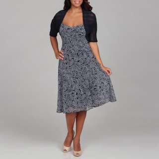 Connected Apparel Womens Floral Dress with Sweater  Overstock