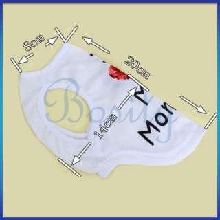 White Puppy Pet Dog Vest T shirt Apparel Clothes Sz S