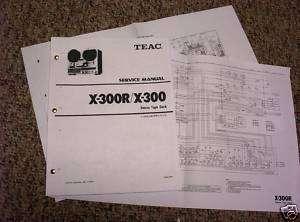 Teac X 300R X 300 Reel to Reel Tape D Service Manual