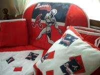 Baby Nursery Crib Bedding Set w/Atlanta Braves fabric