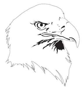 Bald EAGLE Animal AIRBRUSH  Eagle Head Stencil