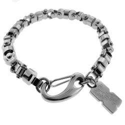 Black and Blue Jewelry Stainless Steel Mens Chain Bracelet