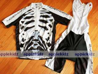 NW SKELETON MTB BIKE CYCLING JERSEY + BIB SHORTS S 3XL