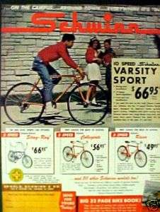 1965 Schwinn Sting Ray,Varsity,Racer Bicycles Ad