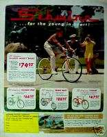 Orange Krate Banana Seat, Varsity, Bicycles Boys Bikes Magazine Ad