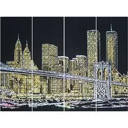 Brooklyn Bridge Black Wall Mirror