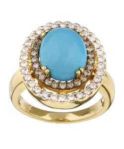 Encore by Le Vian 14k Gold Turquoise and Diamond Ring (H I, SI2 SI3