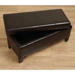 Ariel Leather Storage Bench