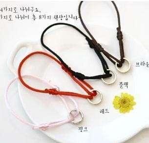 cute girl gift String fashion love Cross Bracelet color