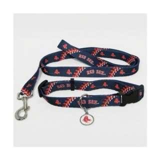BOSTON RED SOX Dog Collar & Leash ID Tag Pet Set MLB Licensed