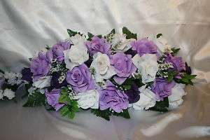 Lavender Wedding Centerpiece Silk Flower Wedding Bridal Bouquets to