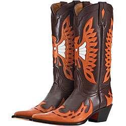 Lane Phoenix Burnt Orange Womens Cowboy Boots