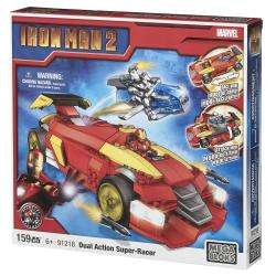 Mega Bloks Marvel Iron Man Super Racer Showdown Play Set