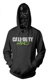 CALL OF DUTY MODERN WARFARE 3 LOGO   CAMO LINING MENS BLACK PULLOVER