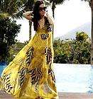 Nwt Womens Chic BOHO Exotic Chiffon Leopard Prints Maxi Long Dress