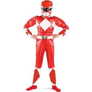 Power Rangers Red Ranger Muscle Child Halloween Costume Halloween