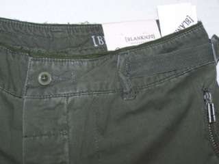 NWT Blank Denim Roll Up Cargo Olive Slouchy Capri Pants
