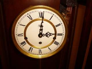 FRANZ HEMLE SLIGH WESTMINSTER CHIME GERMAN WALL CLOCK KEY WIND. IN