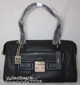 Vintage Leather Classic Pushlock Bag Purse EW Satchel Handbag Sac New
