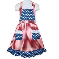 Ann Loren Girls Red/ White/ Blue Patriotic Dress