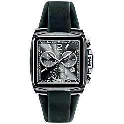 ESQ by Movado Mens Swiss Chronograph Black Bracer Watch  Overstock
