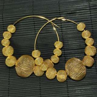NEW Bling Hoops Rhinestone Basketball Wives Earrings+Gift Box M006